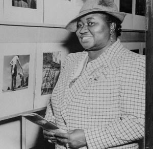 Hattie McDaniel Viewing a Photo Exhibit